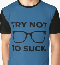 Joe Maddon Try Not To Black Graphic T-Shirt