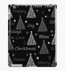 New Year pattern - gray iPad Case/Skin