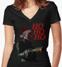 Ho Ho Ho Women's Fitted V-Neck T-Shirt