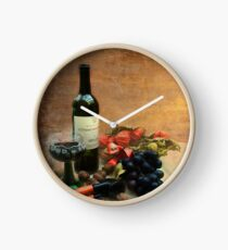 Wine and grapes Clock
