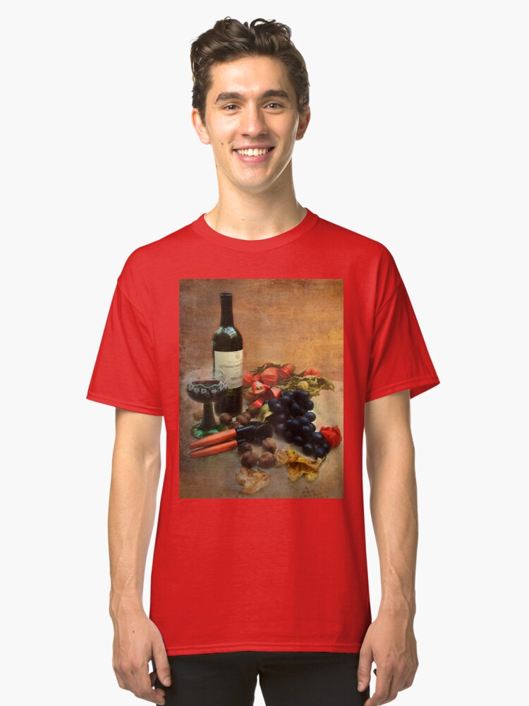 Alternate view of Wine and grapes Classic T-Shirt