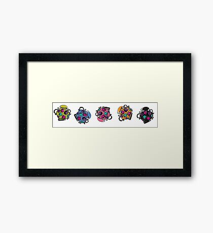 giggle pots version 2 Framed Print