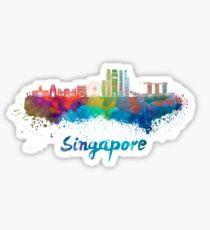 Singapore V2 skyline in watercolor Sticker
