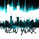 Graphic Art NYC Skyline | türkis   by Melanie Viola