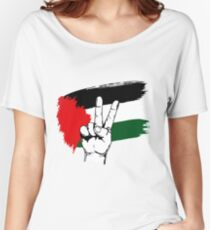 PEACE PALESTINE Women's Relaxed Fit T-Shirt