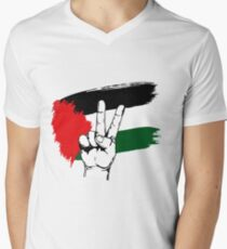PEACE PALESTINE Men's V-Neck T-Shirt
