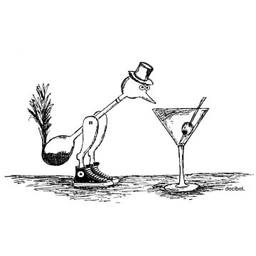 Binge Drinking Bird by Decibel Clothing by DecibelAdelaide