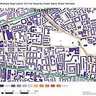Multiple Deprivation Stepney Green ward, Tower Hamlets by ianturton