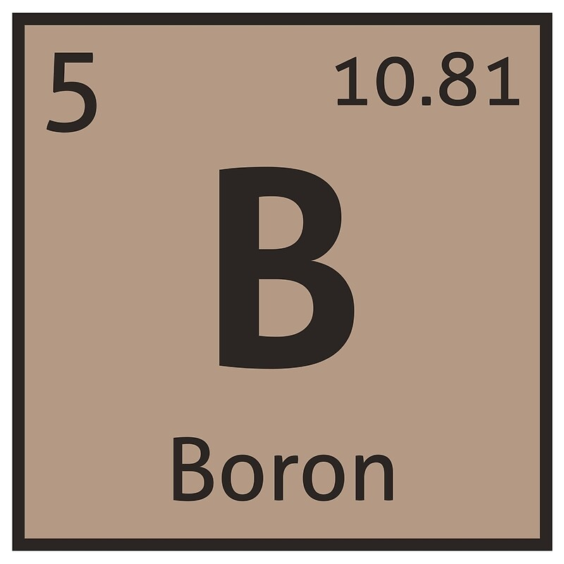 The Periodic Table Boron Art Prints By Destinysagent Redbubble