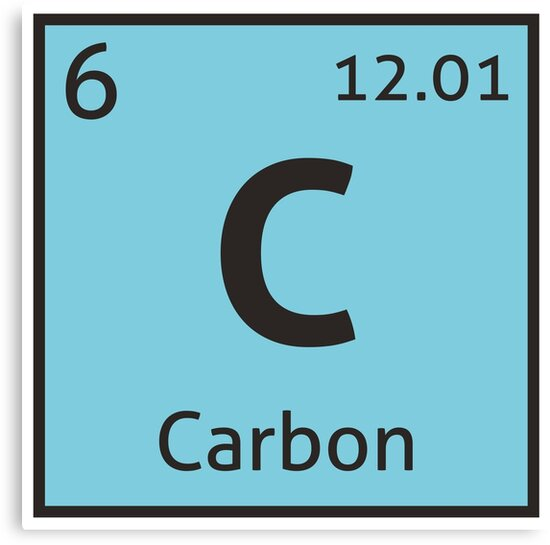 The periodic table carbon canvas prints by destinysagent redbubble the periodic table carbon urtaz Choice Image