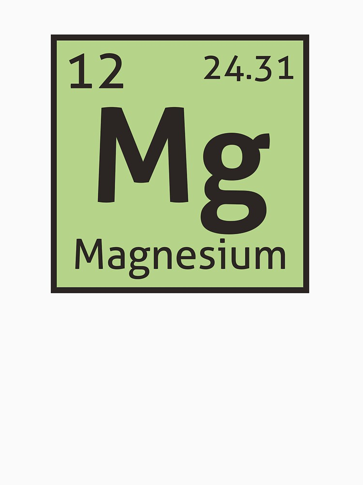 The periodic table magnesium unisex t shirt by destinysagent the periodic table magnesium by destinysagent urtaz Image collections