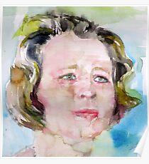EDNA ST. VINCENT MILLAY - watercolor portrait Poster
