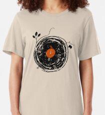 Enchanting Vinyl Records Vintage Slim Fit T-Shirt