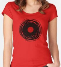 Spinning within with a vinyl record... Women's Fitted Scoop T-Shirt
