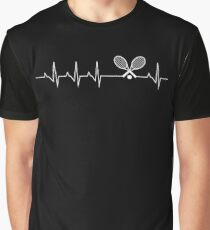 Heartbeat Tennis Graphic T-Shirt