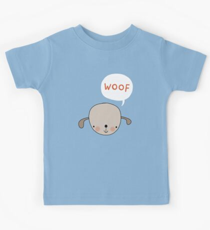 'Woof' said the dog Kids Clothes