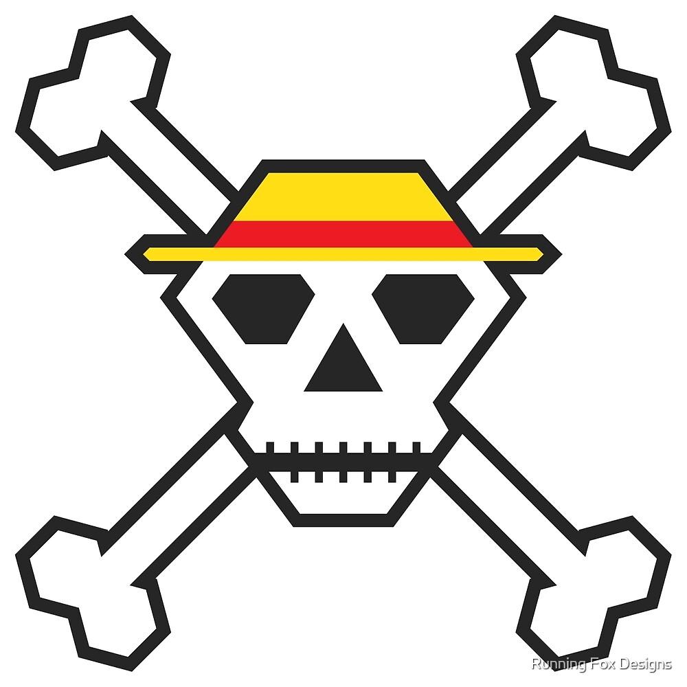 Custom Minimal Pirate Flag (The Straw Hats) by Running Fox Designs