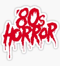 '80s Horror Sticker