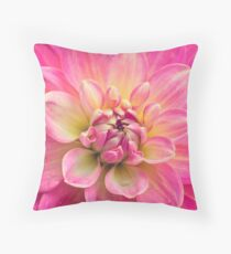 Beautiful Pink Dahlia Flower Throw Pillow