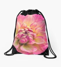 Beautiful Pink Dahlia Flower Drawstring Bag