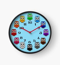 Cute Rainbow Owl Clock Clock