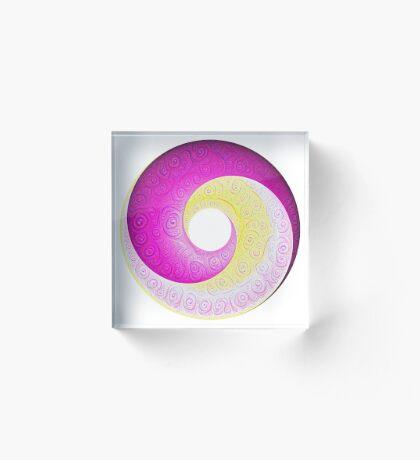 #DeepDream Color Circles Visual Areas 5x5K v1448901772 Acrylic Block
