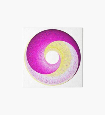 #DeepDream Color Circles Visual Areas 5x5K v1448901772 Art Board Print