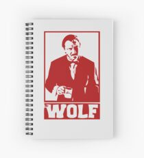 The wolf Spiral Notebook