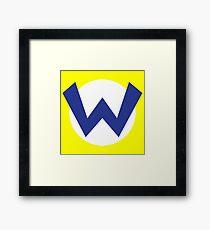 Wario Emblem Framed Print