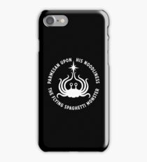 Flying Spaghetti Monster - His Noodliness (White) iPhone Case/Skin