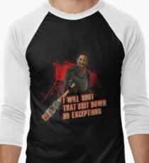 Negan Walking Dead Men's Baseball ¾ T-Shirt