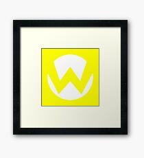 Wario Emblem (hollow) Framed Print