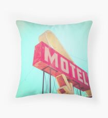 Vintage Americana Motel Sign Throw Pillow