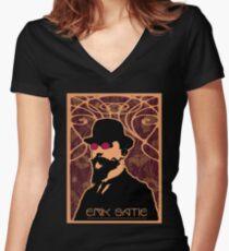 Erik Satie's Purple Dream Women's Fitted V-Neck T-Shirt