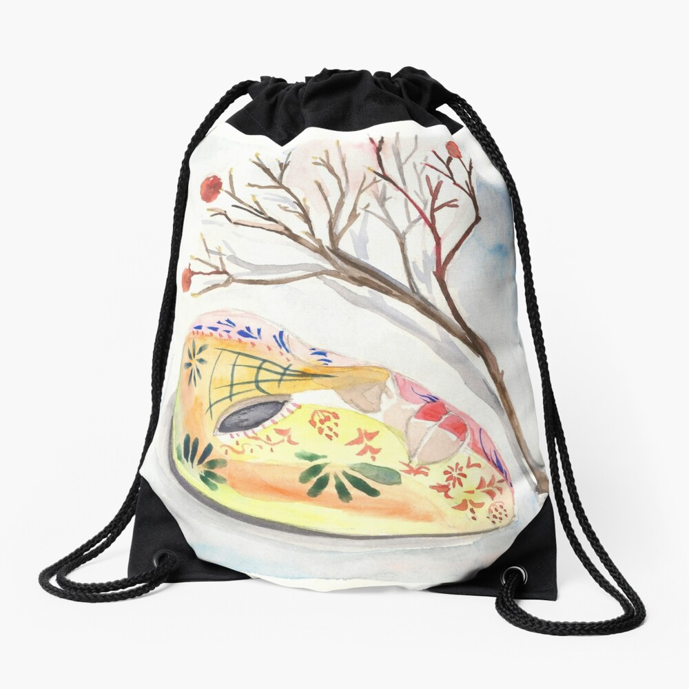 Mask Drawstring Bag Front