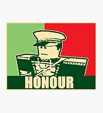 "Mex ""Honour"" slogan Photographic Print"