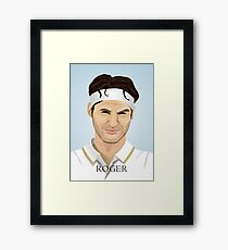 Roger Federer, the tennis superstar Framed Print