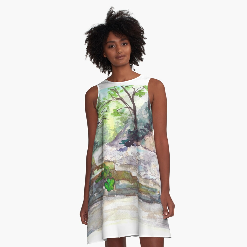 Mountain river A-Line Dress Front