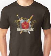 Game Master Red d20 Crest T-Shirt
