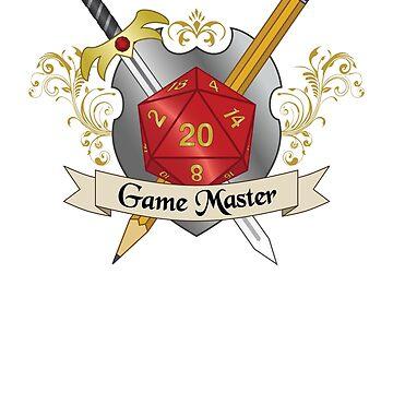 Game Master Red d20 Crest by NaShanta