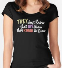 Friends - they dont know that we know they know we know Women's Fitted Scoop T-Shirt