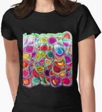 Slipping and Sliding - Joyful Pattern #redbubble #lifestyle Womens Fitted T-Shirt