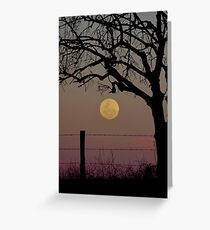 Country Supermoon Greeting Card