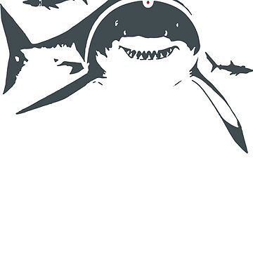 SHARKS WITH LASER BEAMS FUNNY by fabayanart