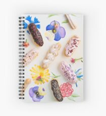 Eclairs with toppings Spiral Notebook