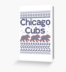 Chicago Cubs - Ugly Christmas Sweater Greeting Card