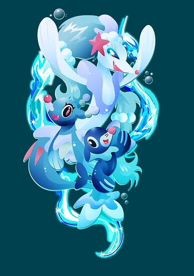 Popplio Brionne And Primarina Posters By Ilona Iske Redbubble