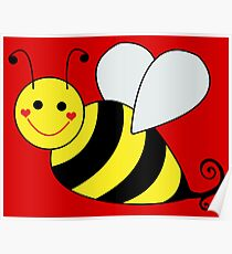 Bumble Bee Graphic Poster