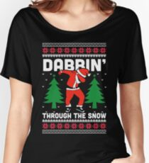 Dabbin Through The Snow Women's Relaxed Fit T-Shirt