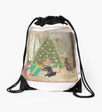 Wheaten and Black Scottie Mischief Drawstring Bag